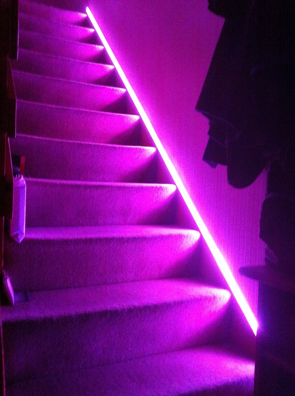 Stairway Lighting Fibaro Z Wave Rgbw Controller To The